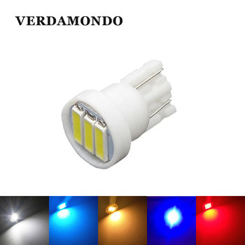 1 Pcs T10 LED Car W5W 3 7020 SMD Auto Backup Reserve Bulbs Lamps Reading Lamp Turn Signal Lights White Light 6500K DC 12V image