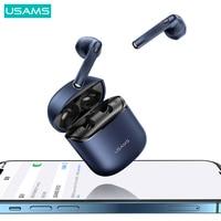 USAMS TWS Wireless headphones Bluetooth Headphones High-Perfomance Earphones Headset HiFi Stereo Earbuds For Android iPhone