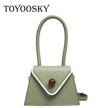 TOYOOSKY Small Totes Big Handle Designer Shoulder Handbag Square Women Crossbody Bags Female Removable Strap Clutch Bag