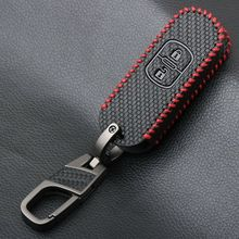 New Leather Car Key Case Protection For Mazda 2 3 5 6 8 2-buttons Hard Shell Dustproof Replacement Practical