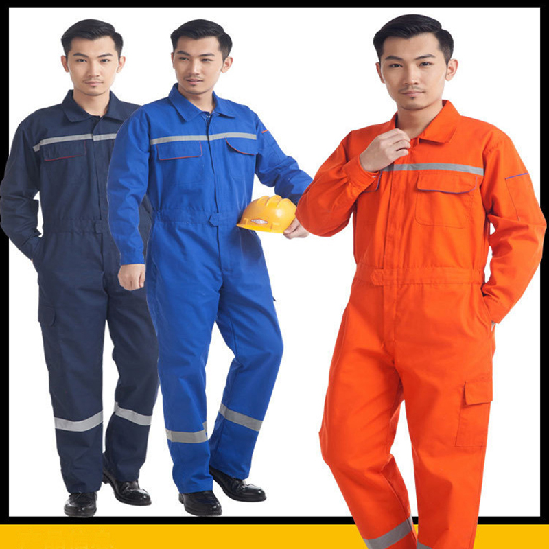 Woman men work overalls working uniforms spring thin Reflective stripe Coveralls welding car workshop mechanic Plus Size clothes