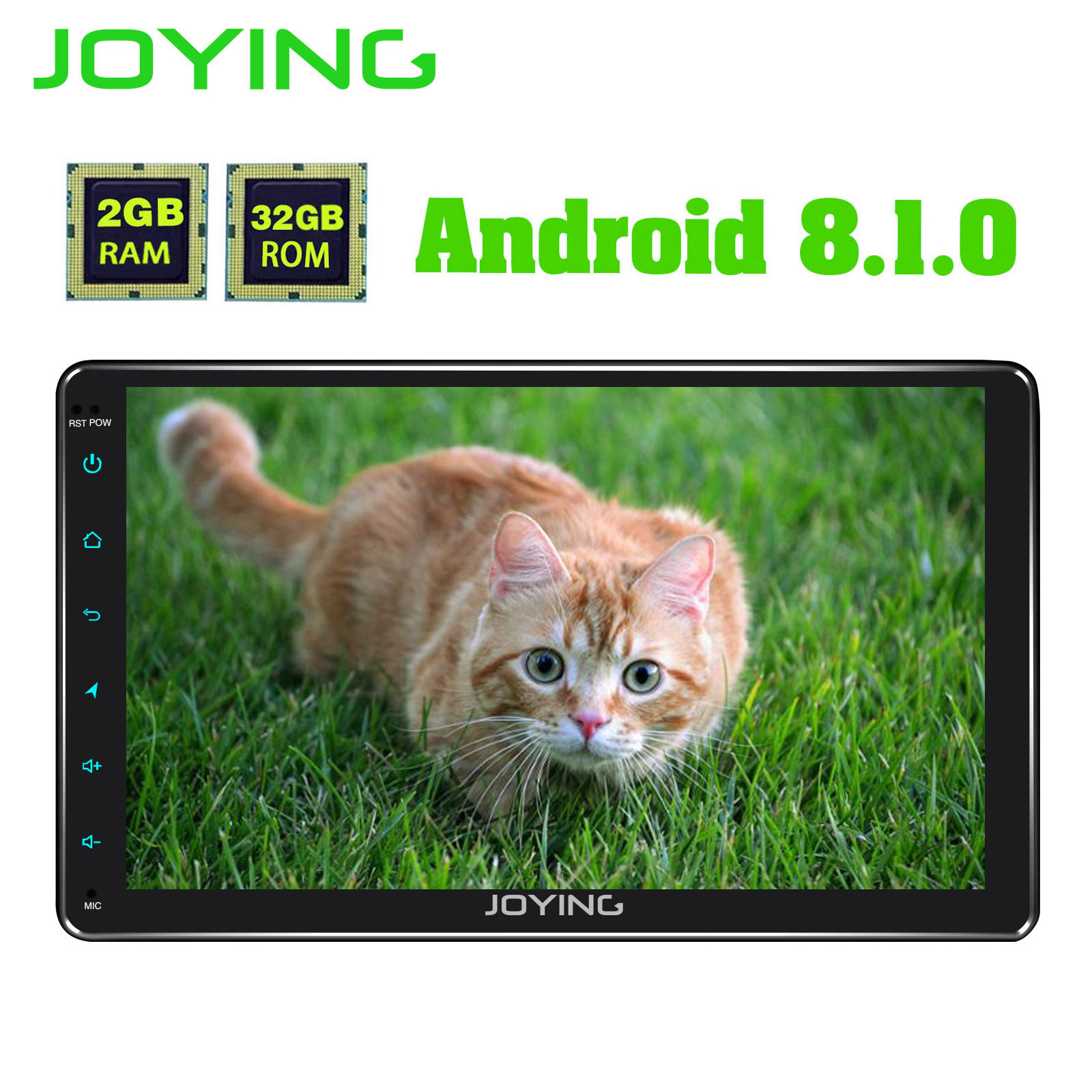 JOYING 9'' 1 din Car Radio 2g Ram 32g Rom Android 8.1 Octa Core Universal head unit GPS system with DSP support Mirror Link Wifi