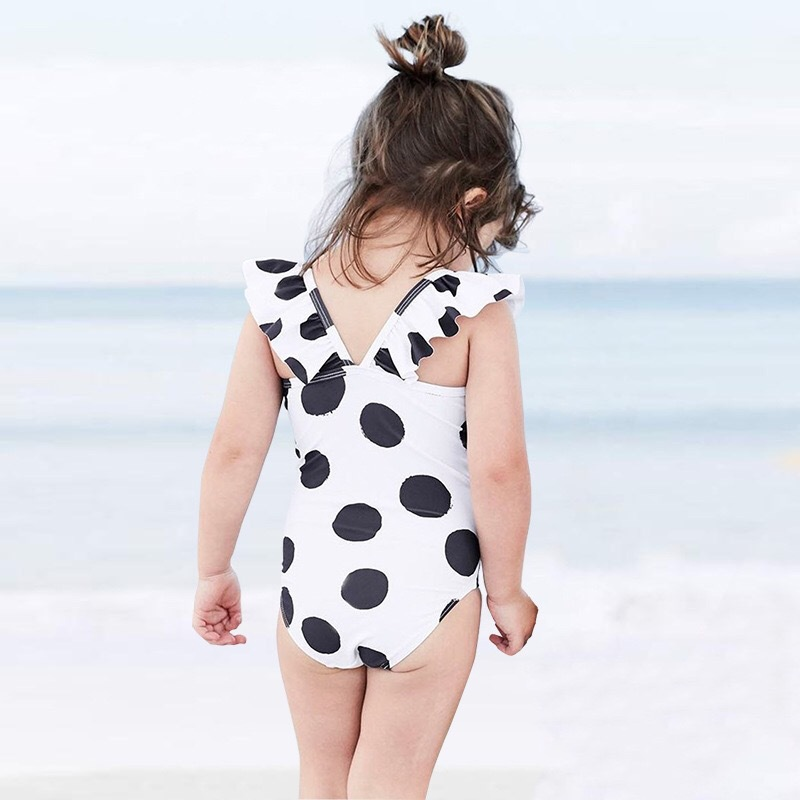 2019 New Style Summer BABY'S Bathing Suit GIRL'S Girls Spa Resort Cute One-piece Swimming Suit A Generation Of Fat