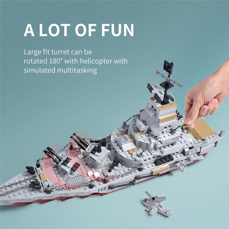 1000+ PCS Military Warship Navy Aircraft Army Figures Building Blocks LegoINGlys Army Warship Construction Bricks Children Toys 2