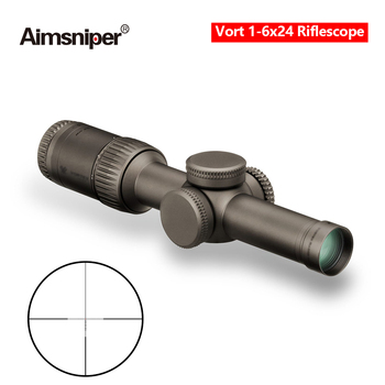 Tactical Vort Optics 1-6x24 Riflescope Razor Hd Gen Hunting Rifle Scope MRAD Reticle Sight With Scope Mount For Airsoft Gun 1