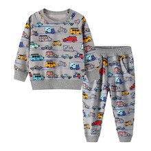 กระโดดเมตรBoutiqueเด็กทารกเสื้อผ้าชุดฤดูใบไม้ร่วงฤดูหนาวเด็กชุดกีฬาชุดเด็กเสื้อกางเกง2ชิ้นเด็กชุด
