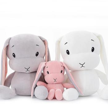 Plush Toys Animal Rabbit Creative Bunny Stuffed Soft Doll Cartoon For Children Baby Birthday Gift Cushion Sleepping Pillow Toy 40 100cm giant cute baby toy spongebob patrick star plush toys cartoon soft animal pillow anime doll children kids birthday gift