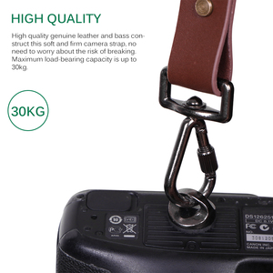 Image 3 - Powstro Genuine Leather Camera Shoulder Strap Adjustable DSLR Single Double Rose Anvil India Earl Harness for Canon Accessories