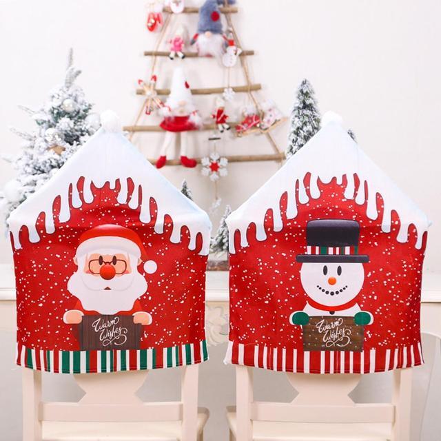 Купить рождественские декоративные чехлы для стульев обеденный сиденье картинки цена