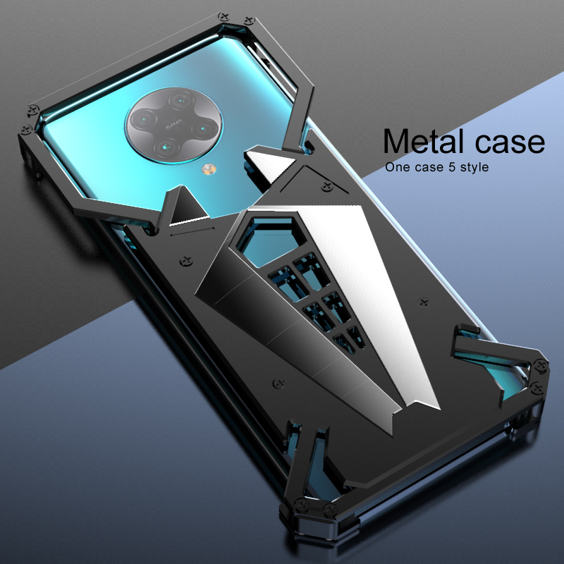Luxury Shockproof Aluminum Metal Armor Ring Case For Xiaomi Redmi K30 Pro Aluminium Bumper Case Metal Frame Cover