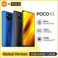 In Lager Globale Version POCO X3 NFC 6GB 64GB Snapdragon 732G Xiaomi Smartphone 120Hz 5160mAh batterie 64MP AI Quad Kamera
