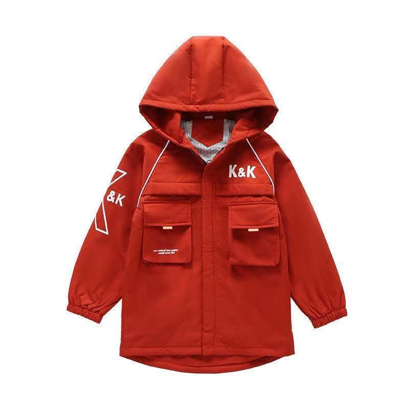 Boys Jackets Kids Fashion Spring Fall Childrens Coats Letter Print Trench Coat Thin Children Jacket Outerwear Clothes Kids Coat