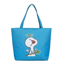 New women's tote bag fashion cartoon printed large capacity nylon lady shoulder travel