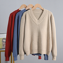 Women's sweater autumn and winter basic thick warm knitted p