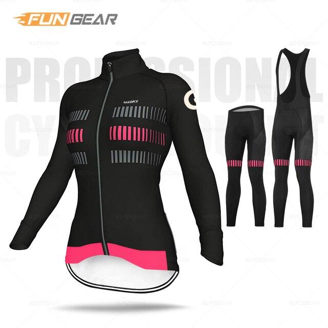 Mulheres roupas de ciclismo manga longa conjunto camisa respirável senhora estrada bicicleta uniforme primavera outono mtb ciclo roupas secagem rápida anti-uv 1