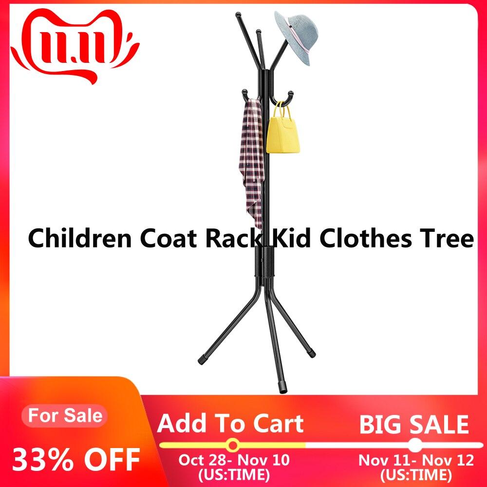 Kid Coat Hats Scarves Clothes Handbags Rack Hat Hanger Children Clothes Tree Hallstand Hat Tree Space Saver