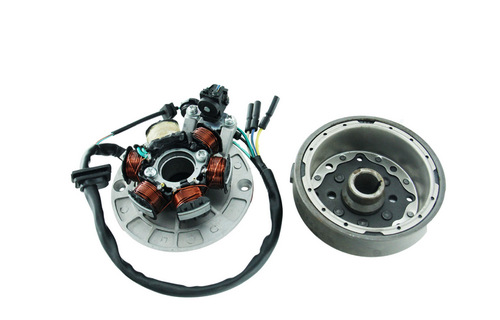 For Scooter Dirt Pit Bike 50cc 70 <font><b>110cc</b></font> 125cc 140cc <font><b>Lifan</b></font> <font><b>Engines</b></font> Motorcycle 6 Coil Ignition Magneto Stator Plate Flywheel image