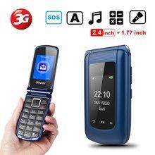 3g grande botão telefone móvel desbloqueado para idosos, duplo sim telefone básico pagar como você vai telefone fácil de usar para sênior