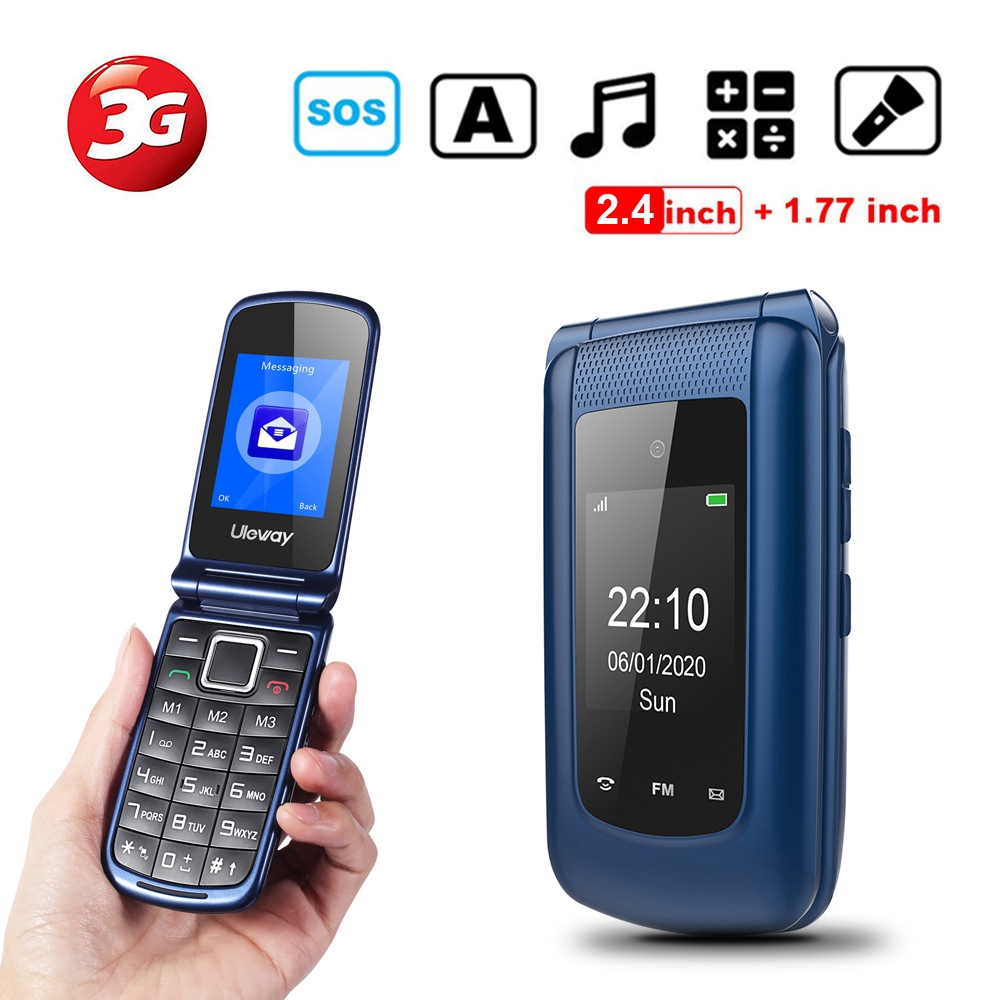 3G Big Button Mobile Phone Unlocked for Elderly, Dual Sim Basic Phone Pay As You Go Phone Easy to Use for Senior