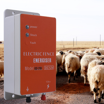 Solar Electric Fence Energizer Charger High Voltage Pulse Controller Animal Poultry Farm Electric Fencing Shepherd 10KM XSD-280B