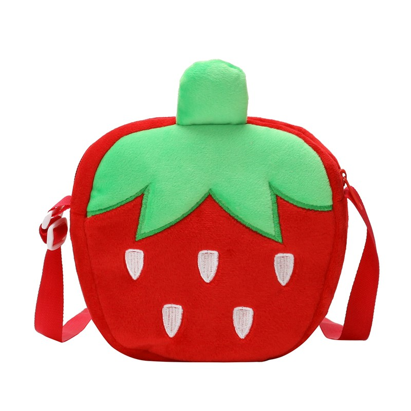 Carrot Strawberry Fashion Anime Plush Shoulder Bags Cartoon Crossbody Casual Handbag Fluffy Dolls Phone Bag Lady Girls 2019 New in Top Handle Bags from Luggage Bags