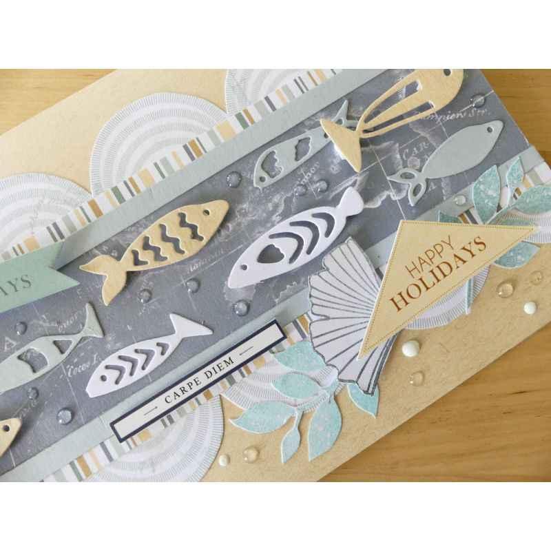 منتجات جديدة لعام 2019 ، أشكال من الأسماك ، استنسل ، قوالب تقطيع معدنية ، لممارسة قصاصات القصاصات ، أدوات يدوية لبطاقات الألبوم إصنعها بنفسك
