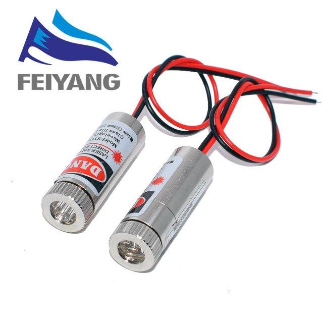 10 Stuks 650nm 5Mw Rode Punt/Lijn/Cross Laser Module Hoofd Glas Lens Focusable Focus Verstelbare Laser diode Hoofd Industriële Klasse