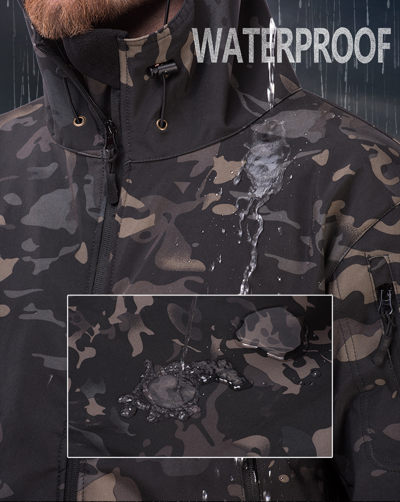Soft Shell Jacket Pants Huntingclothes-Suit Military-Coats Shark-Skin TAD Army Waterproof