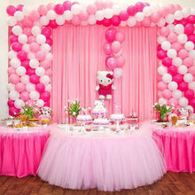 Tutu tulle table skirt for wedding decoration birthday party