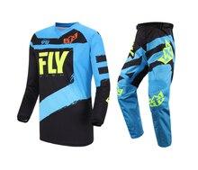 2019 Fly Fish wyścigi pomarańczowy koszulka i spodnie zestaw Combo MX ATV BMX MTB sprzęt jeździecki Motocross Dirt Bike zestaw