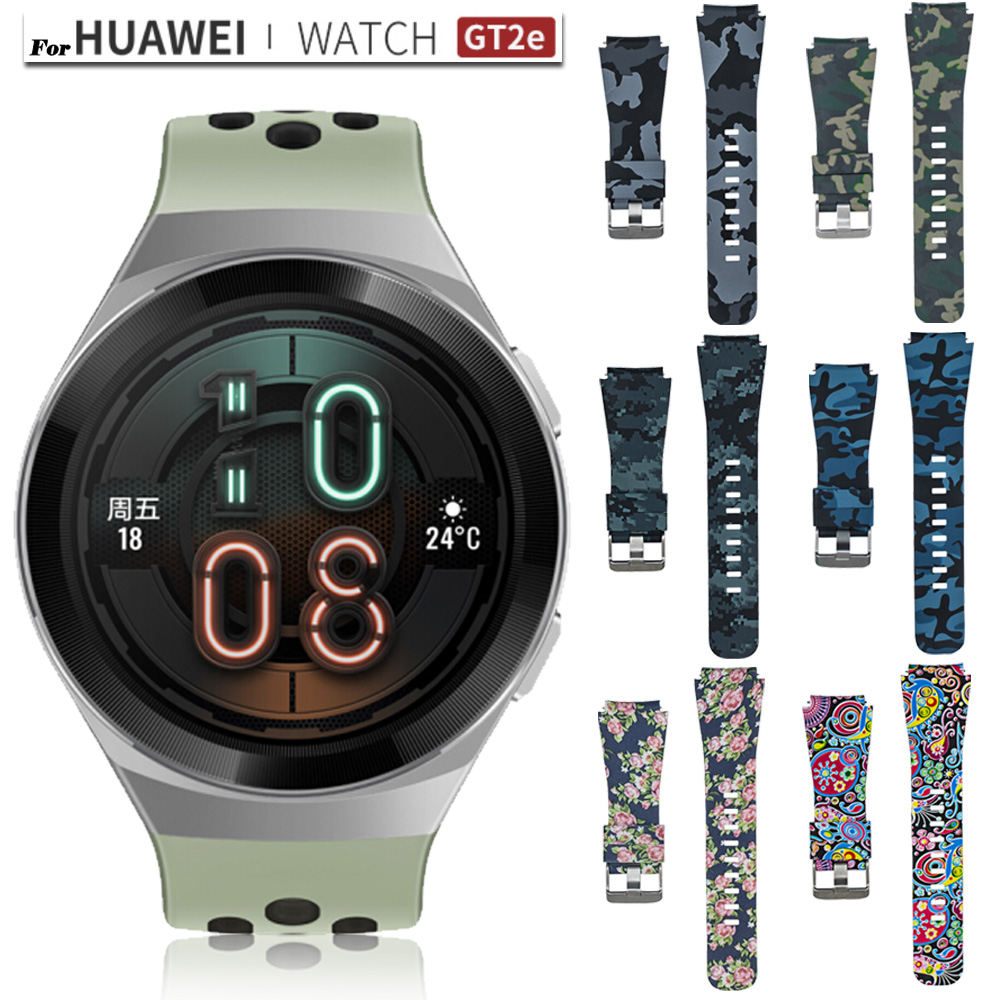 For Huawei Watch Gt 2e 46mm Strap Pattern Silicone Watchband Sport Replacement Bracelet 22mm  Watch Band For Huawei Gt2e