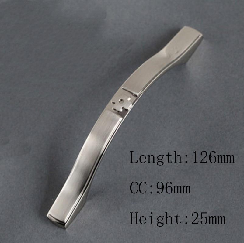 Современный Мебельный фитинг выдвижение ящика шкафа рукоятки и ручки двойной цвет боковой линии на белом(C: 96 мм L: 126 мм
