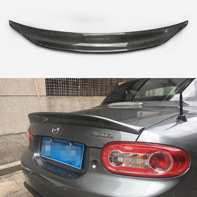 Car-styling For <font><b>MX5</b></font> MX-5 NC NCEC Roster Miata EPA Type 3 Carbon Fiber <font><b>Rear</b></font> <font><b>Spoiler</b></font> Glossy Fibre Trunk Wing (PRHT Hard Top Only) image