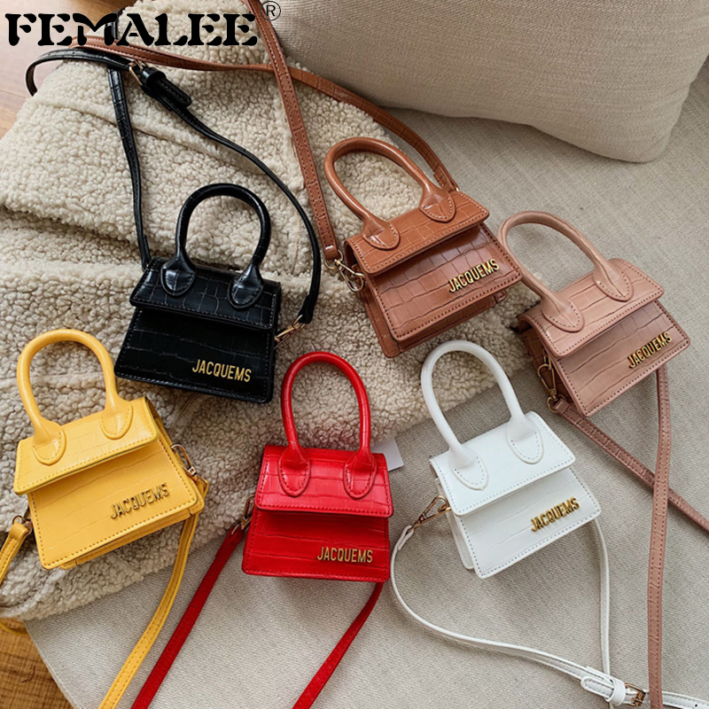 Luxury Handle Mini J Bags Brand Purses Handbags 2019 Women Designer Small Shoulder Crossbody Bags Female Crocodile Pattern Totes
