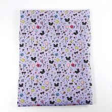 50*140 см печатные Животные полиэстер хлопок ткань пэчворк для изготовления одежды кукольный столб, c2433