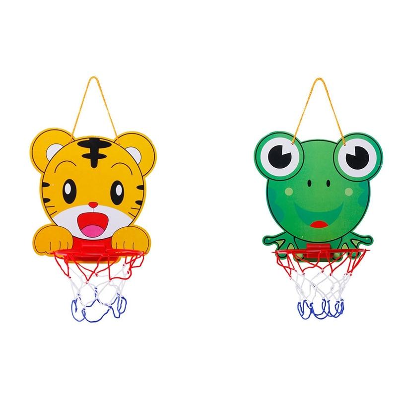 Cartoon Basketball Hoop Children's Basketball Toy Adjustable Cartoon Animal Basket Educational Sports Interactive Game