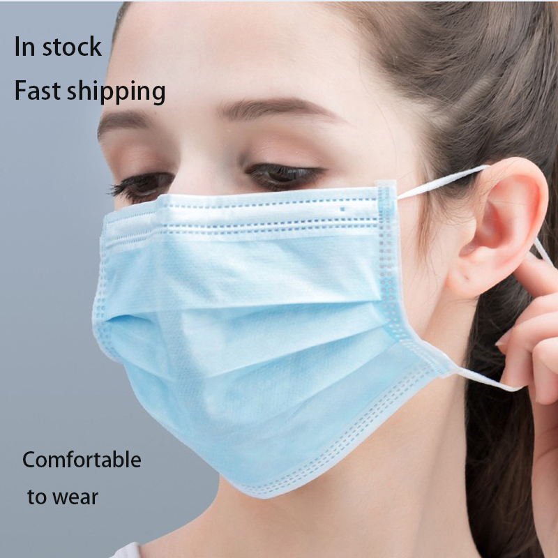 20 Pcs 3ply Anti-flu Virus  Anti-Dust Respirator Maski Cotton Mond Masker Sensi Mulut Mouth Face Surgical Mask Disposable