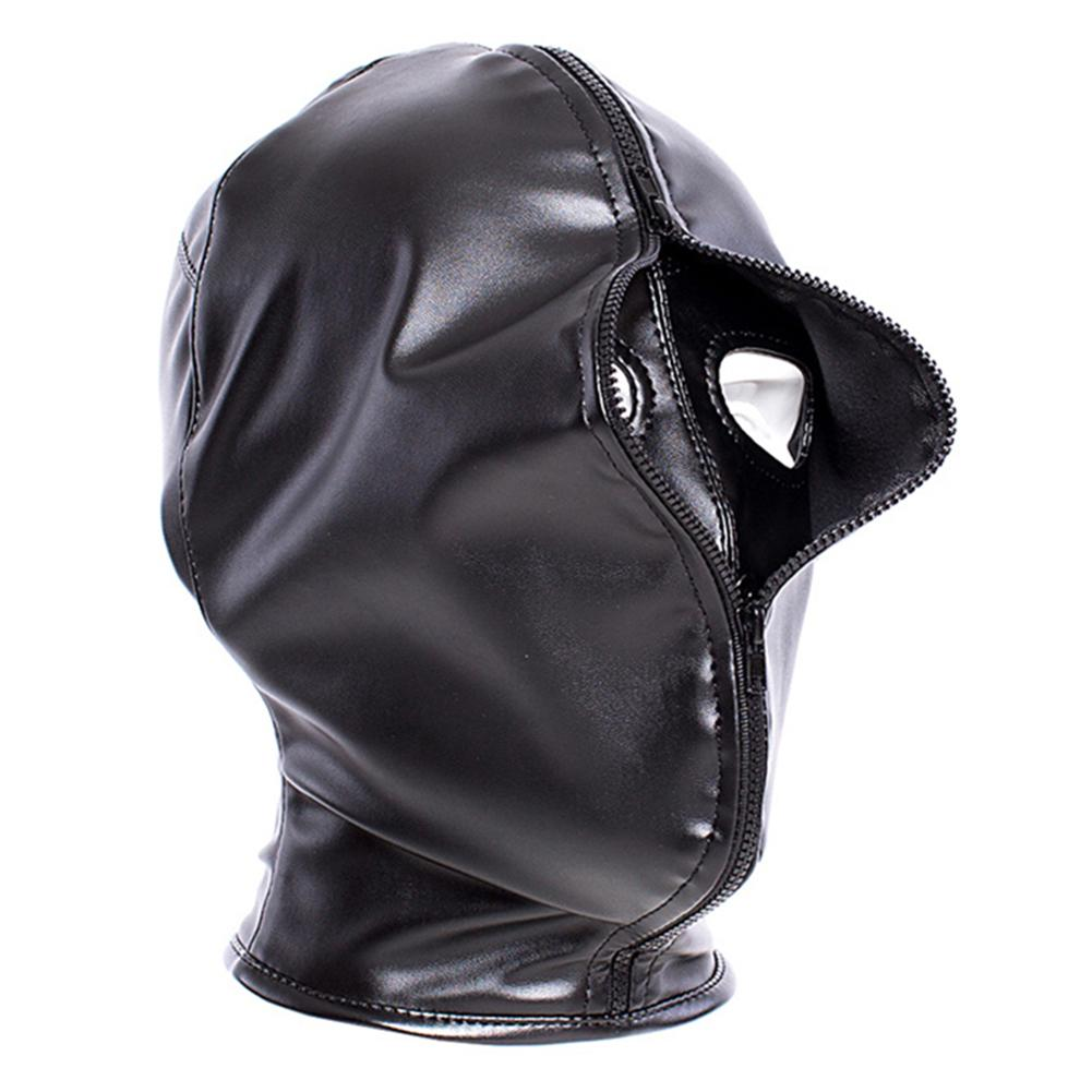 Double Layer BDSM Bondage Hood Mask Zipper Closed Erotic Sex Toy Head Harness Perfect Gift For Yourself Or Your Lover