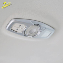 For Ford Everest 2016 2017 ABS Matte Car rear reading Lampshade read light panel Cover Trim car styling Accessories 1pcs