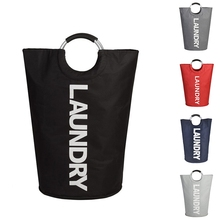 Laundry-Basket Waterproof Handles with Portable Collapsible Washing-Bags Hamper for Home-Dorms