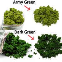 Tren De 50G HO Que Hace La Arquitectura Hierba En Polvo Árbol Verde Oscuro DIY juguetes De plástico Verde modelo tronco de árbol paisaje