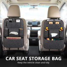 1pc uniwersalny Organizer na tylne siedzenie samochodu organizator do torby Trunk elastyczna filcowa torba do przechowywania 6 kieszenie organizator wiszące akcesoria samochodowe