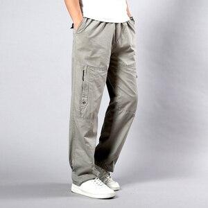 Image 4 - Estate Autunno Uomini Pantaloni Casual Del Cotone Pantaloni Lunghi 2020 Dritto Pantaloni Homme Grande Formato 5XL di Lavoro di Business Traspirante Pantaloni Da Uomo