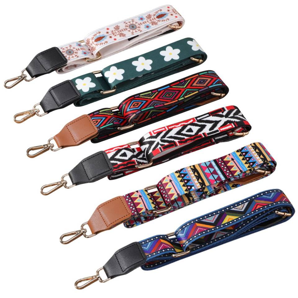 Bag Parts Accessories Shoulder Strap  for Handbags Adjustable Bag strap leather Belt Wide Rainbow  Purse Strap for Bag Replaceme