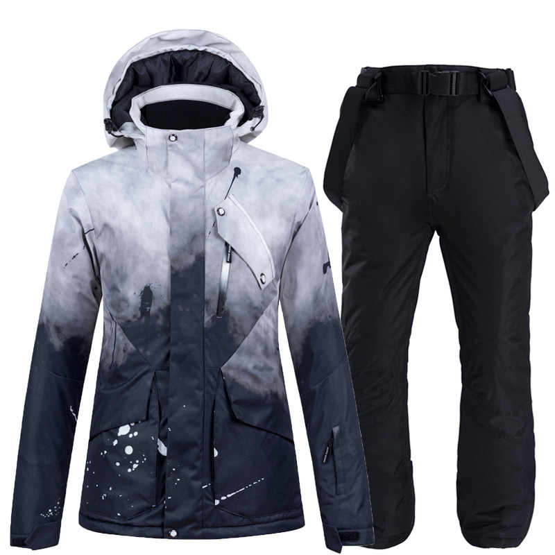 Ski Suit Men Women Winter Thicken Outdoor Jacket Windproof Waterproof Jacket And Pants Skiing Snowboarding Ski Suit Male Female