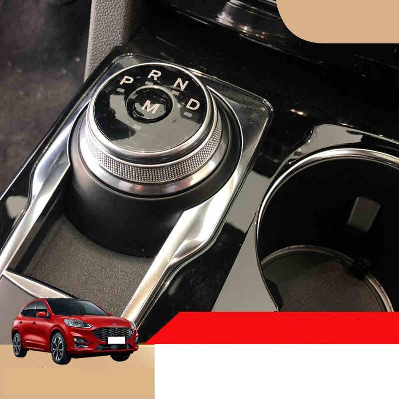 Lsrtw2017 TPU Car Gear Switch Knob Engine Start Film Anti-scratch For Ford Kuga Escape 2019 2020 Sticker Accessories