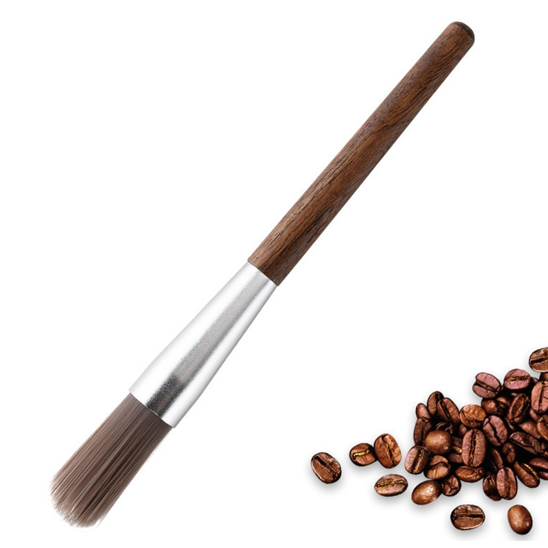 Coffee Grinder Machine Cleaning Brush Bristles Dusting Brushes with Wooden Handle Cleaner Tool for Barista Kitchen Bar