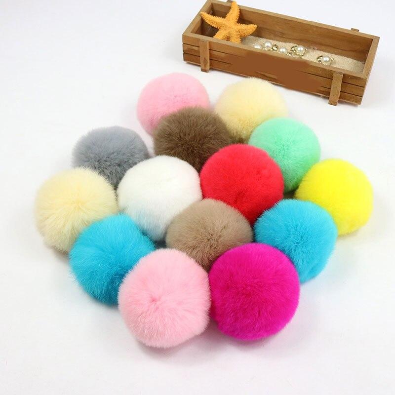 1PC 6/7cm Soft Round Pompom Balls Fluffy Pom Poms Handmade Kids Toys Knitting Hats DIY Sewing Craft Supplies