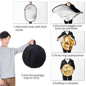Image 4 - Capsaver 60*90 Cm Opvouwbare Reflector 5 In 1 Multi Disc Photo Reflector 24*35 Inch Draagbare Ovale licht Diffuser Fotografie