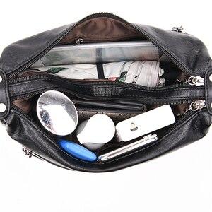 Image 5 - Kadın postacı çantası yumuşak koyun derisi deri omuzdan askili çanta kadın ana kesesi rahat Hobos bayanlar kadınlar için Crossbody çanta Bolsas